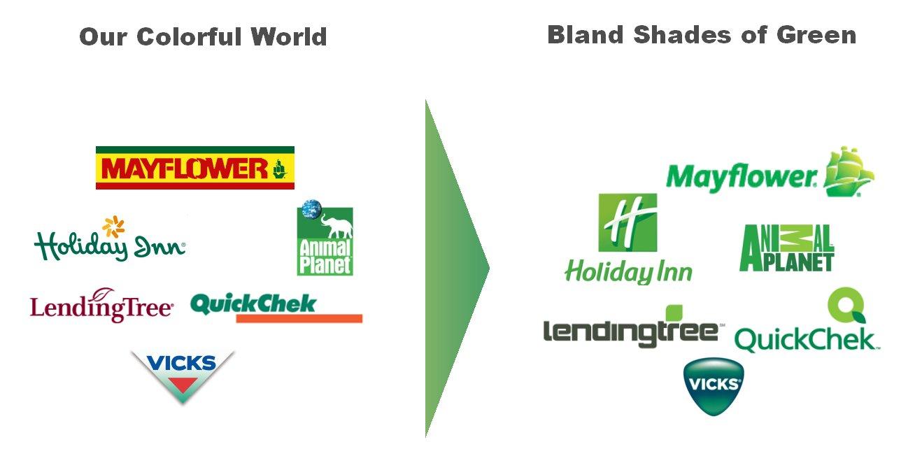 boring green logo redesigns are a color cliche